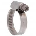 Collier bande non perforée W2 inox /acier zingué - 9 mm - Serrage 8 - 12 mm - Boîte de 50 pièces - Ace