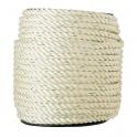 Bobine de corde nylon blanche - Ø 6 mm - Corderies Tournonaises