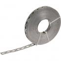 Bande perforée galvanisé - 17 mm - 25 m - Sélection Cazabox
