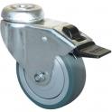 Roulette à frein à œil pivotante - Ø 50 mm - Série S14 AF - Caujolle