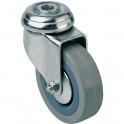 Roulette Uniroll pivotante à trou - Caujolle