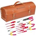 Sacoche en cuir d'électricien - avec 15 outils - Facom