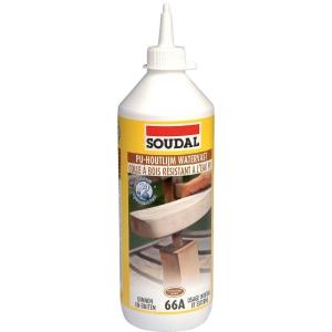 Colle polyur thane 750 ml 66a soudal cazabox for Colle a bois exterieur polyurethane