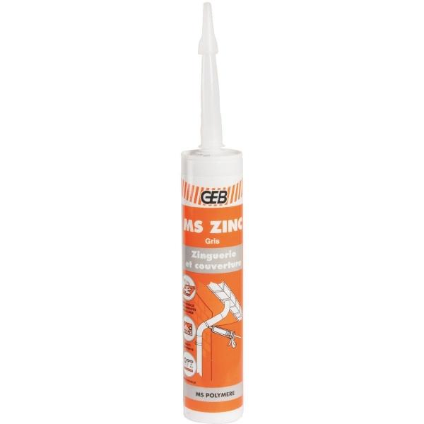 Geb mastic colle pour zinguerie 290 ml ms zing for Colle pour gouttiere zinc