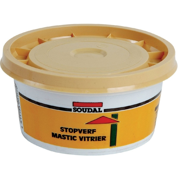 mastic base de lin 500 g mastic vitrier soudal cazabox. Black Bedroom Furniture Sets. Home Design Ideas