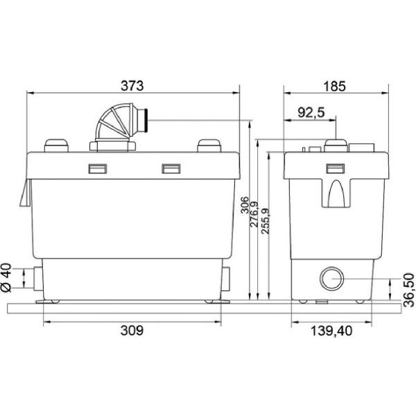 pompe de relevage sanispeed sfa cazabox. Black Bedroom Furniture Sets. Home Design Ideas