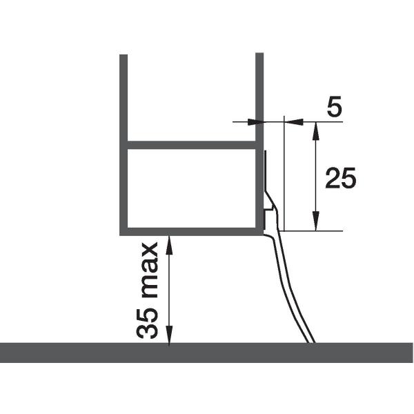 Plinthe aluminium grande bavette 2 5 m bas de porte for Garage ad avis