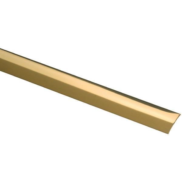 Bande de seuil adh sive longueur 0 73 m laiton poli for Seuil de porte a coller
