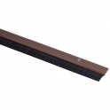 Plinthe plastique marron à brosse - 0,93 m - Bas de porte - Jourjon