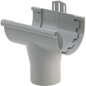 Naissance à coller gris - diamètre 25 mm - Girpi
