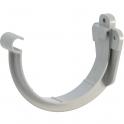 Support de gouttière gris - diamètre 25 mm - Girpi