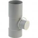 Collecteur eau de pluie gris - diamètre 80 mm - Girpi