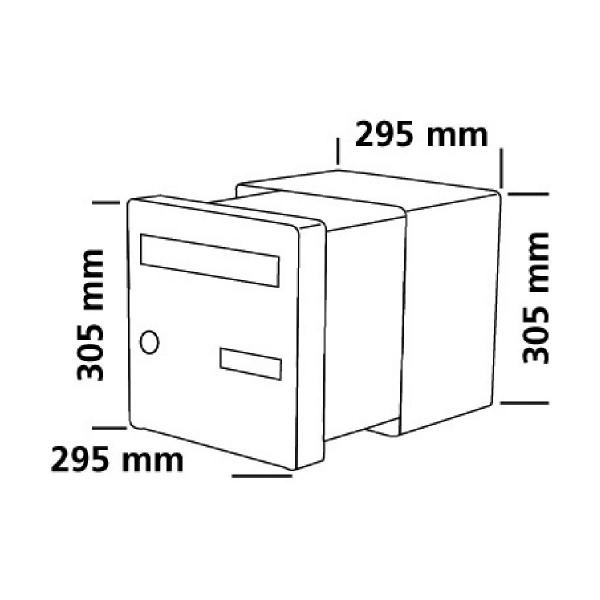 bo te aux lettres en aluminium double face passe mur decayeux cazabox. Black Bedroom Furniture Sets. Home Design Ideas