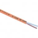 Câble rigide résistant au feu CR1 -C1 - 2x1,5 mm² - Couronne de 100 m - Lynelec
