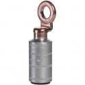 Cosses aluminium à anneau cuivre à fût court à souder - Ø tête 20 x 10,5 mm - Section 70 mm² - Vendu par 3 - Klauke