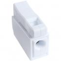 Borne de connexion blanche - 1 fil - Fil souple / fil rigide - Vendu par 100 - SIB