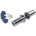 Cylindre 2 entrées chromé - 50 x 40 mm - Mul-T-lock