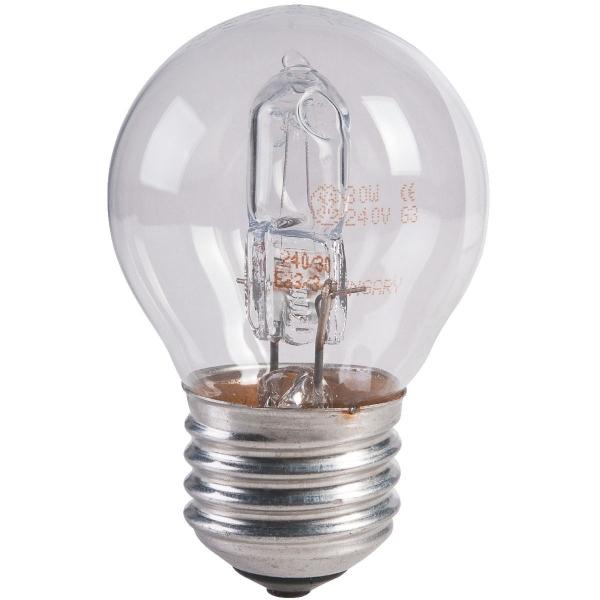 ampoule halog ne eco sph rique e27 28w vendu par 2 general electric cazabox. Black Bedroom Furniture Sets. Home Design Ideas