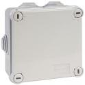 Boîte grise carrée - 100 mm - 6 embouts - Couvercle vis 1/4 de tour - Gewiss