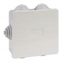 Boîte grise carrée - 80 mm - 6 embouts - Couvercle enclipsable - Gewiss