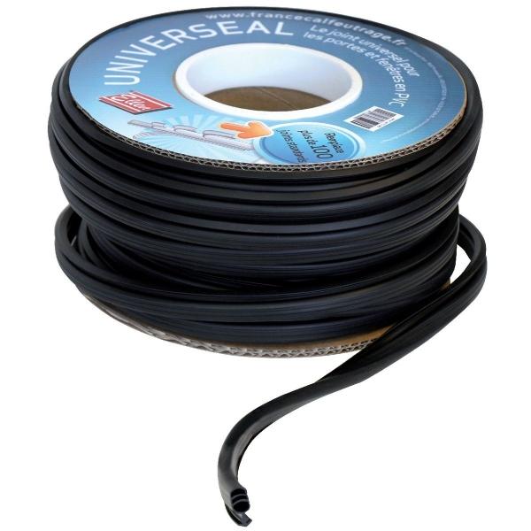 Joint universel noir longueur 25 m menuiserie pvc ellen cazabox - Joint de frigo universel ...
