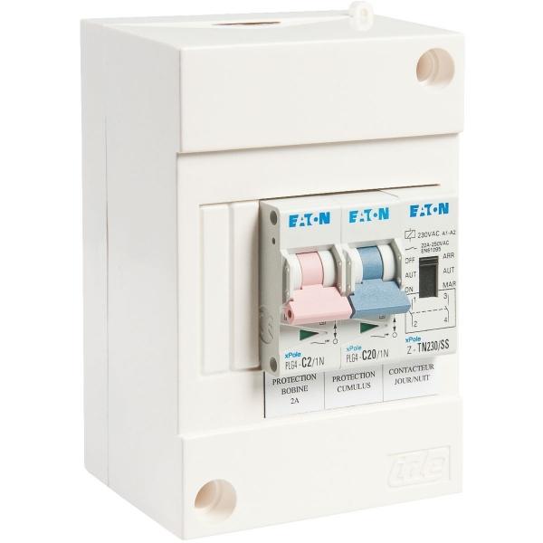 Coffret de protection chauffe eau eaton cazabox - Disjoncteur chauffe eau electrique ...