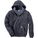 Sweat à capuche zippé gris - Carhartt