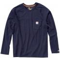 T-Shirt bleu manches longues - Force - Carhartt