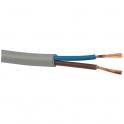 Câble souple domestique H05 VV-F gris - 2x1 mm² - Couronne de 50 m - Electraline