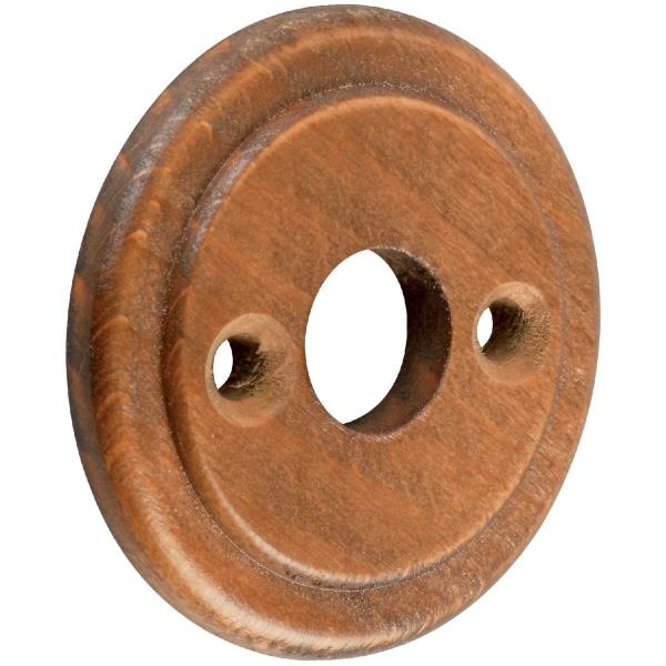Rosace ronde bois noyer bec de cane dubois ind cazabox - Poignee de porte ronde en bois ...