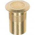Gâche laiton poli - Ø 24 mm - Anti poussière - Proquinter