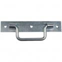 Poignée sur platine zinguée découpée - 140 mm - Torbel industrie