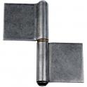 Paumelle de grille - 82,8 x 80 mm - Lames dans l'axe - Monin