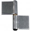 Paumelle de grille droite - 82,8 x 80 mm - Lames renvoyée - Monin