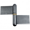 Paumelle de grille forte - 125 x 160 mm - Lames dans l'axe - Monin