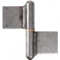 Paumelle à souder - 80 mm - Noeud plat - Clemenson