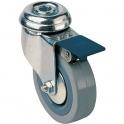 Roulette Uniroll pivotante à oeil avec frein - Caujolle