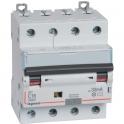 Disjoncteur différentiel monobloc DX³ 6000 - 10 kA courbe C - 25 A - Sensibilité 300 mA - 4 modules - Connexion auto / vis - Leg