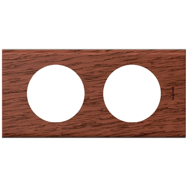 plaque mati re acajou 2 postes c liane legrand cazabox. Black Bedroom Furniture Sets. Home Design Ideas