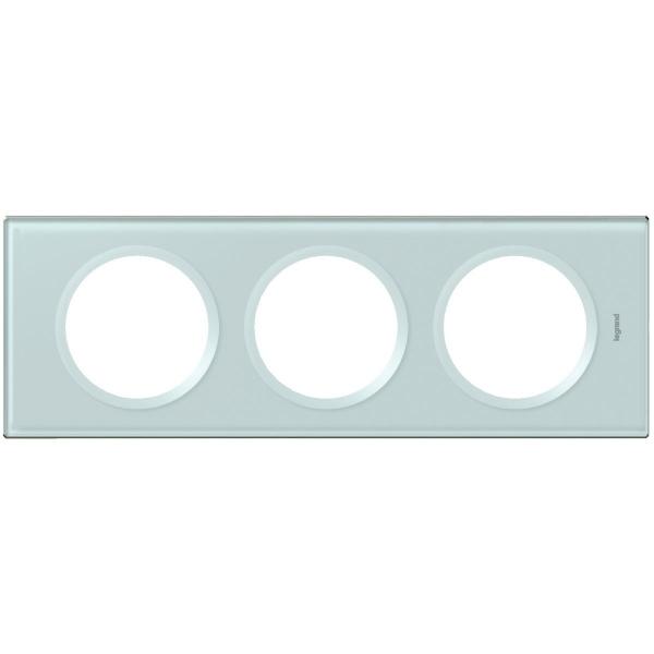 Plaque mati re verre kaolin 3 postes c liane legrand - Bureau plaque de verre ...