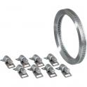 Collier à bande sans fin + 8 têtes W4 inox - 3 m - 8 mm - Cap Vert