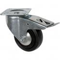 Roulette Manu-Roll pivotante à frein D 200 - Caujolle