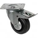 Roulette Port-roll pivotante avec frein D 100 - Caujolle