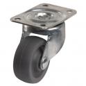 Roulette Miniroll pivotante à platine D 42 - Caujolle