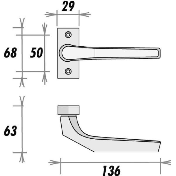 poign e de porte argent carr 8 mm type 117 gf hoppe. Black Bedroom Furniture Sets. Home Design Ideas