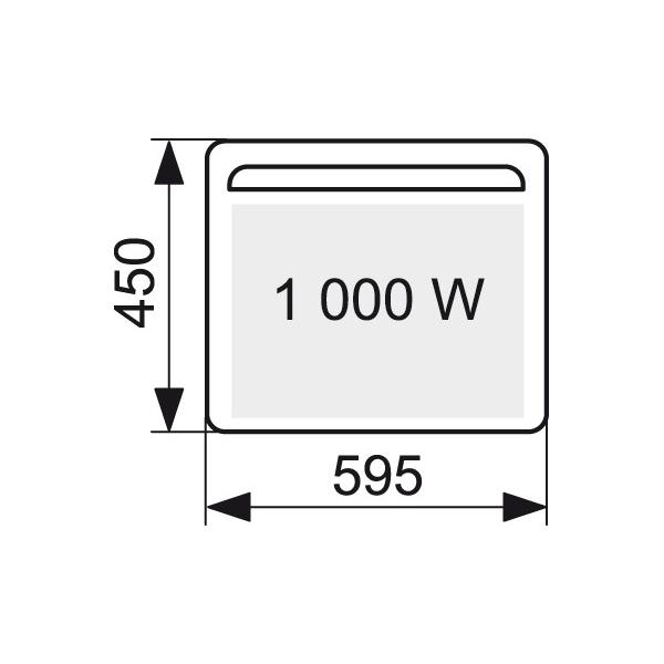 Panneau rayonnant horizontal solius 1000 w atlantic cazabox - Chauffage panneau rayonnant consommation ...