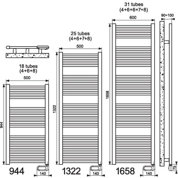 seche serviette electrique 700w. Black Bedroom Furniture Sets. Home Design Ideas