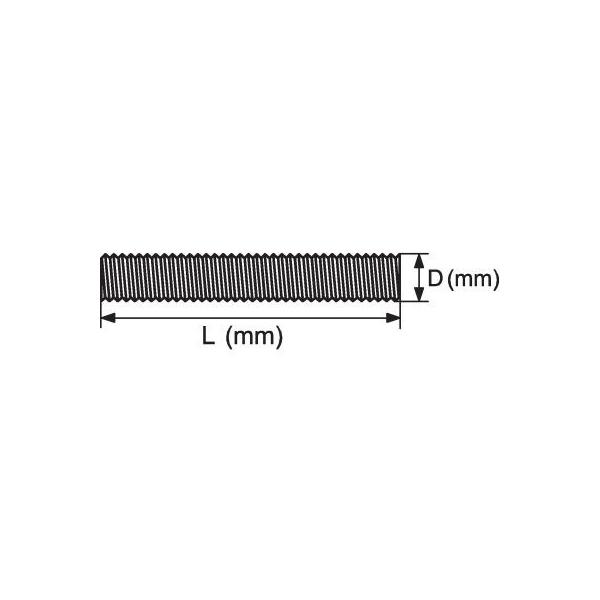 tige filet e zingu 8 mm 1000 mm viswood cazabox. Black Bedroom Furniture Sets. Home Design Ideas