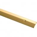 Bande de seuil percée - Longueur 2,7 m - Laiton poli - Profilpas