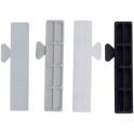 Cale de vitrage translucide - 80 x 16 mm - 1 mm - Sachet de 1000 - Goettgens